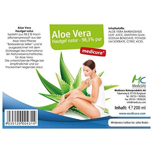 Aloe Vera Hautgel 98,3 % 200 ml