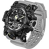 Men's Military Watch, Dual-Display Waterproof...
