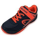 Head Sprint Velcro 3.0 Jnr, Zapatillas de Tenis, Azul (Dark Blue/Neon Red Mnnr), 34 EU