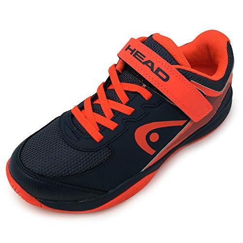 Head Sprint Velcro 3.0 Jnr, Zapatillas de Tenis Unisex Niños, Azul (Dark Blue/Neon Red Mnnr), 30.5 EU