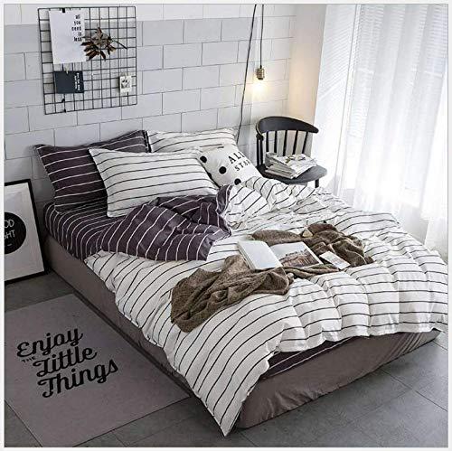 HDBUJ Jovanile Anti-rimpel dekbedovertrek, gepersonaliseerd beddengoed met kruisdruk, twee bijpassende kussenslopen, grijs/blauw