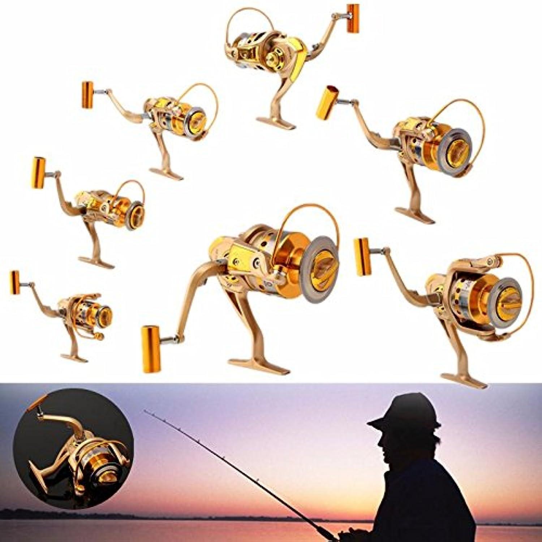 Spinning Fishing ReelMetal Spinning Fishing Reel10BB 5.5 1 Gear Spinning Spool Fishing Reel Aluminum Salt Freshwater Right Left Interchangeable004 (Fishing Reel Aluminum)