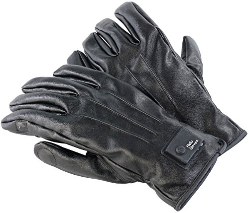 Callstel Telefon Handschuh: Freisprech-Handschuhe, L, Bluetooth, Lederoptik, Vibrationsalarm, LED (Telefon Handschuh, Bluetooth)