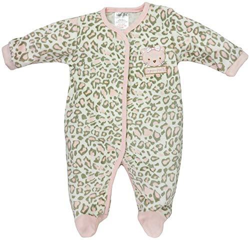 BabyTown - Baby Mädchen Schlafstrampler Schlafanzug aus Nicki Wildkatze Gr. 56-62 (0-3 Monate)