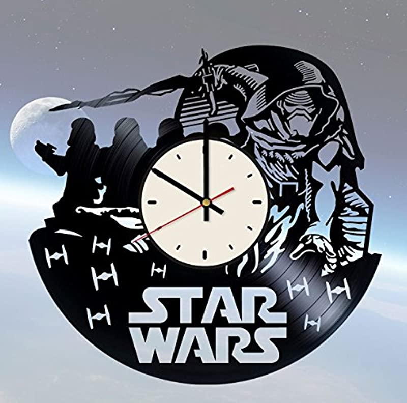 Dark Side Of The Force Vinyl Wall Clock Star Wars Unique Gifts Living Room Home Decor