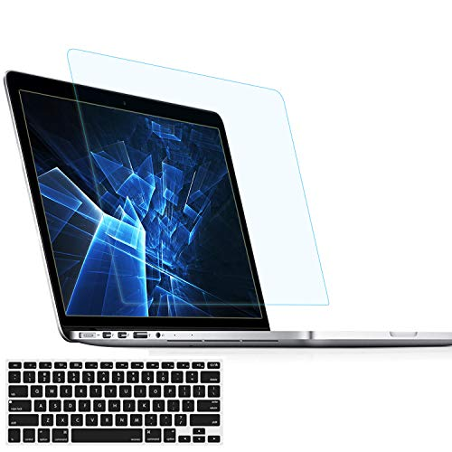 MUBUY Anti Blue Light Anti Glare Screen Protector for 2015-2012 MacBook Pro 13 A1425 A1502 with Keyboard Cover, Reduces Digital Eye Strain Anti Fingerprint for 2012 2013 2014 2015 Old MacBook Pro 13