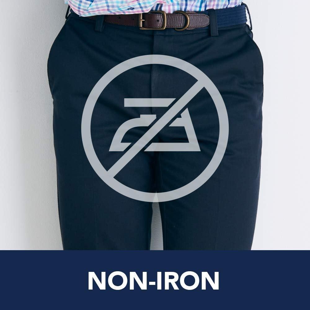 Izod Pantalon chino américain plissé pour homme Bleu Marine