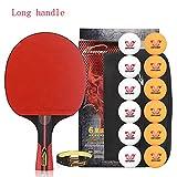 SSHHI 6 Star Ping Pong Paddle,1 Tabelle Tennis Bat,5 Schichten Aus Holz,Bequemen Handgriff Kann Für Innen- Und Außen Spiel Verwendet Werden Solide/Wie gezeigt/B