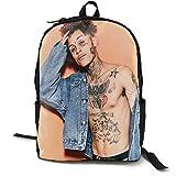 N / A Lil Skies Paquete clásico mochila escolar negro bolsa viaje de trabajo poliéster unisex escuela