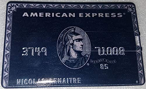 black american express card
