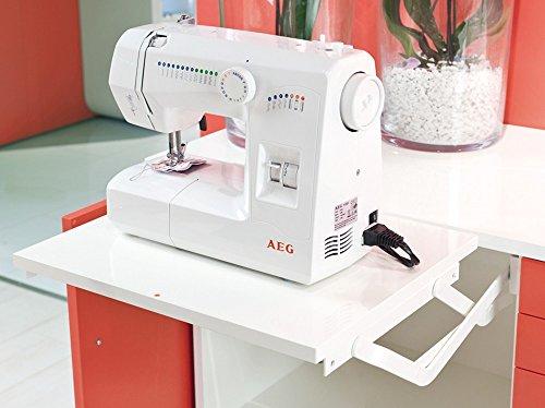 Parallel-Schwenkmechanik für Allesschneider & Kleingeräte | Stahl kunststoffbeschichtet RAL 9010 weiß | Schwenkbeschlag zum Schrauben unter den Oberboden | Tragkraft 8 kg | 1 Garnitur