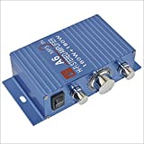 A6 Portable Dual Channel Surround Sound Hi-Fi Stereo Amplifier for Car/Motorcycle-Blue 180W