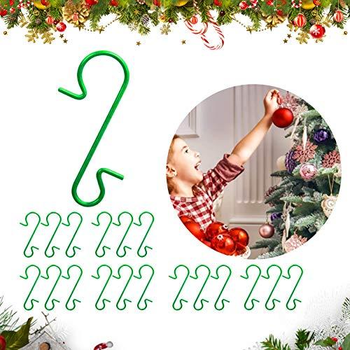 120 ganchos de Navidad,Ganchos para Adornos navideños,Ganchos Adornos ,Acero Inoxidable Colgante Decoración Forma S,Colgar Bolas Decorativas,Ganchos de Árbol Navidad ,Ganchos Navidad Mini S Ganchos