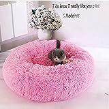 yiguanguan Bett für Haustiere, rund, flauschig, für Katzen, Hunde, Schlafkissen, selbstwärmend,...