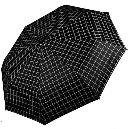 ZXYSR Mujer Hombres Vogue Paraguas Plegable Compacto Antiviento Impermeable Anti-UV 8 Varillas...