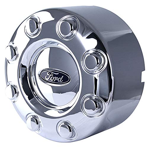 New OEM Ford Rear Center Cap 8 Lug Compatible With Ford F-350 Drw 2005-2016 By Part Numbers HC3C1A096XB HC3C1A096AD HC3C-1A096-AD HC3C-1A096-ADB HC3C1A096ADB HC3C-1A096-XB