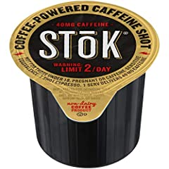 MORE COFFEE IN YOUR COFFEE: SToK Caffeinated Black Coffee Shots are the perfect solution to add a quick hit of energy to your day. Add a single-serve pod to your morning cup in your home brewed coffee for a caffeinated kick to get you through the mor...