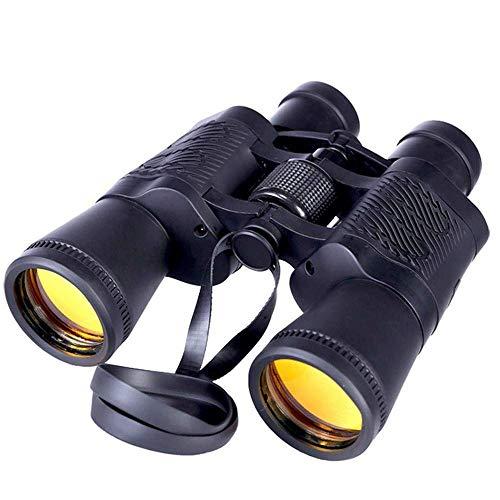 YFFSS 7 x 50 jumelles puissantes pour adultes, durables Jumelles transparentes pour l'observation des oiseaux Safari au football Safari Tourisme Escalade Randonnée Voyager Sport avec une vision noctur