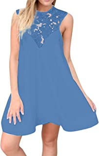 LIKESIDE Women's Long Dress Loose T Shirt and Split Maxi Swing Blouse Dresses