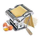 MAMMA MIA: Oramics Nudelmaschine mit 3 Walzen für frische und leckere Pasta zum Nudeln Selbermachen zu Hause, egal ob Pasta, Spaghetti oder Lasagne MANUELL: Die Pastamaschine lässt sich dank praktischer Einhand-Kurbel ganz einfach bedienen, die Platt...