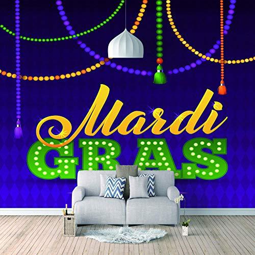 Fotomurales papel de pared 3d Carnaval no tejido moderna Fotográfico Diseno TV Fondo grandes salones Hogar decorativos -350X250 cm (137 * 98 pulgadas)