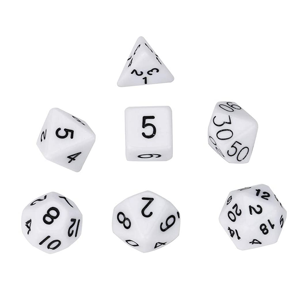 Dice Solid Irregular multifaceted 7Pcs Pearl Grain D4-D20 Multi Sided Dices Set for TRPG Game