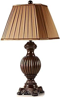 WREEE Lampada da Tavolo Desk Lamp Table Vintage Camera Resina Decorativa Lampada da Comodino per Ufficio, Camera, Soggiorno