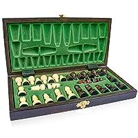 Scacchiera in Legno Professionale Scacchi - Chess, Scacchiere Set Portatile Gioco da Viaggio per Adulti Bambini 26 x 26 cm #3