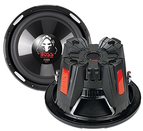 BOSS Audio Systems P126DVC Phantom 12-Inch 2300 Watts 4 Ohm Dual Copper Voice Coal Car Audio Stereo Subwoofer Speaker with Poly Injection Cone