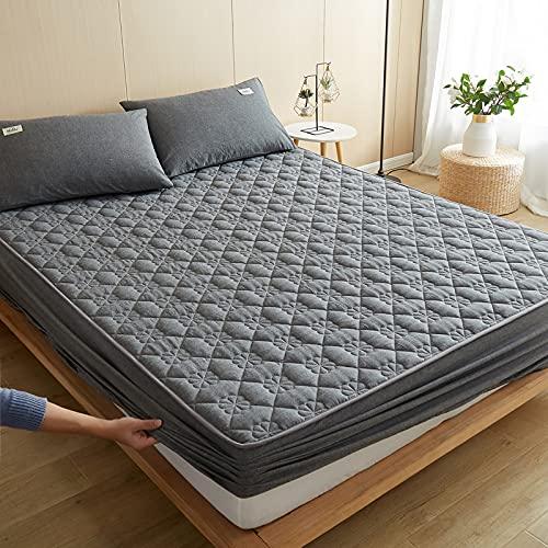 BAJIN - Coprimaterasso protettivo antiacaro per girare – coprimaterasso   coprimaterasso   letto a molle insacchettate, 150 x 200 + 30 cm