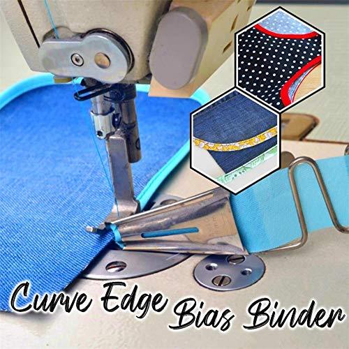 Curve Edge Bias Binder Cover Stitch Single Fold Flat Seamer Folder Sewing Machine Binding Attachment (45mm)