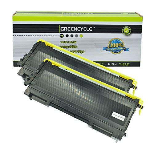 GREENCYCLE 2 Pack TN350 TN-350 Black Toner Cartridge Compatible for Brother HL-2040 HL-2070N FAX-2820 FAX-2920 Printers