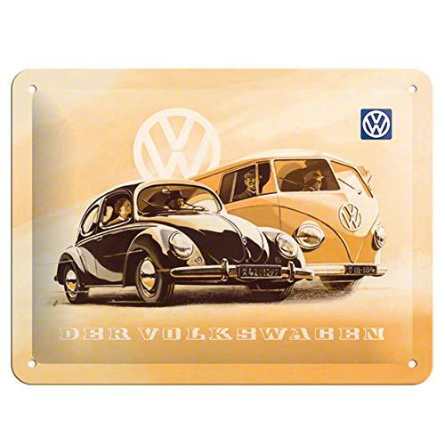 Nostalgic-Art 26130 Volkswagen - VW Beetle & Bulli, metalen bord 15x20 cm