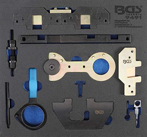 BGS 9491 | Werkstattwageneinlage 2/3: Motor-Einstellwerkzeug-Satz | für BMW M40, M44, M50, M52, M54, M56