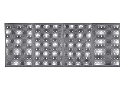 Ondis24 Werkzeugwand Lochwand aus Metall Werkstattwand mit Euro-Lochung 60 x 160 cm aus 4 Teilen