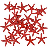 Zhichengbosi - Estrella de mar (30 piezas, resina, estrella de mar, 6 cm), color azul, resina, Rojo