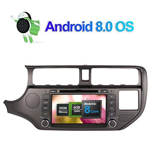 8 pollici Octa Core 4G+32G 2 Din In Dash Autoradio Lettore DVD Navigatore GPS con schermo touch screen bluetooth vivavoce per Kia K3 Rio 2012 2013 2014 supporto 3G 4G Wifi DAB+ Ingresso telecamera