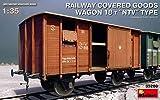 MiniArt 35288 Modellbausatz Railway Covered Goods Wagon 18 t NTV Ty -