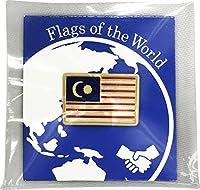 世界の国旗 ピンバッジ Sサイズ 8×12mm:マレーシア