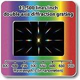 Beugungsgitter-Dias,Doppelachse, 13'500Linien/2,5 cm (1 Zoll)
