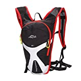 West Biking Cycling Mini Bicycle Backpack Bike Bag Outdoor Sports Rucksack For Camping Hiking Running Daypacks-Black