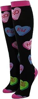 Socksmith Women's Socks Tart Hearts Knee High Black 1pair