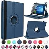 UC-Express Tablet Hülle für Blaupunkt Atlantis A10.303 Tasche Schutzhülle Hülle Schutz Cover 360° Drehbar 10 Zoll Etui, Farbe:Blau