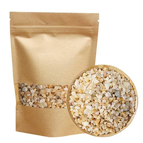 TOYPOPOR Quarzsand Grobkörnig 3-5 mm, 1 kg Dekosteine Sand Kies, Terrarium Deko Zierkies für Pflanzen, Sukkulenten, Kaktus, Bonsai