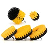 5 Pieces Drill Brush Attachments, Scrubber Brush for Drill, Power Cleaning Kit for Carpet, Car Detailing, Bathroom Surface, Upholstery, Grout, Tiles, Sinks, Shower, Boat, Corner