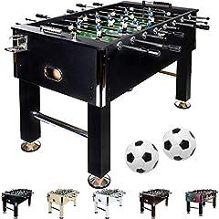 Stół kicker Maxstore Leeds w 5 kolorach, piłkarzyki, kicker stołowy, w tym 4 piłki + 2 uchwyt na napoje, ok.