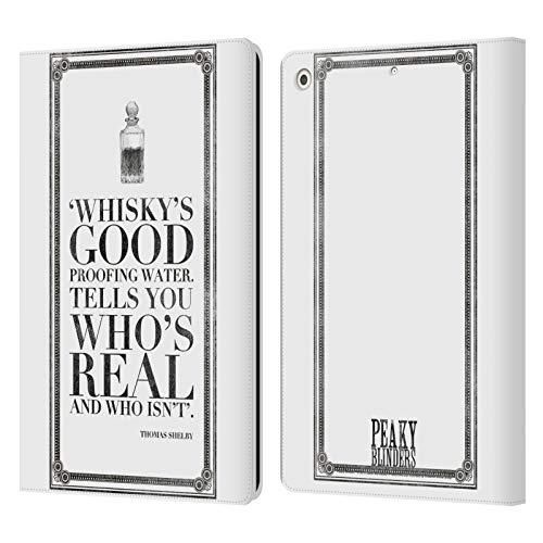 Officiële Peaky Blinders Whisky's Goed Typografie Lederen Book Portemonnee Cover Compatibel voor Apple iPad 10.2 (2019)