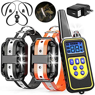 Veckle Dog Training Collar, 2600ft Rechargeable...