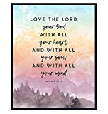 Scripture Bible Journaling Wall Art - Blessed Sign - Bible Verse Wall Art, Religious Wall Decor - Christian Gifts for Women, Men, Kids Bedroom - Unframed 8x10 Inspirational Quotes Poster Print