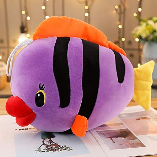 N / A Tropical Fish Plush Toys Colorful Pillow Baby Kids Plush Toys Christmas Birthday Gifts Children Plush Stuffed Toys Colorful Fish 80cm